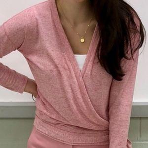 Pink Wrap Sweater